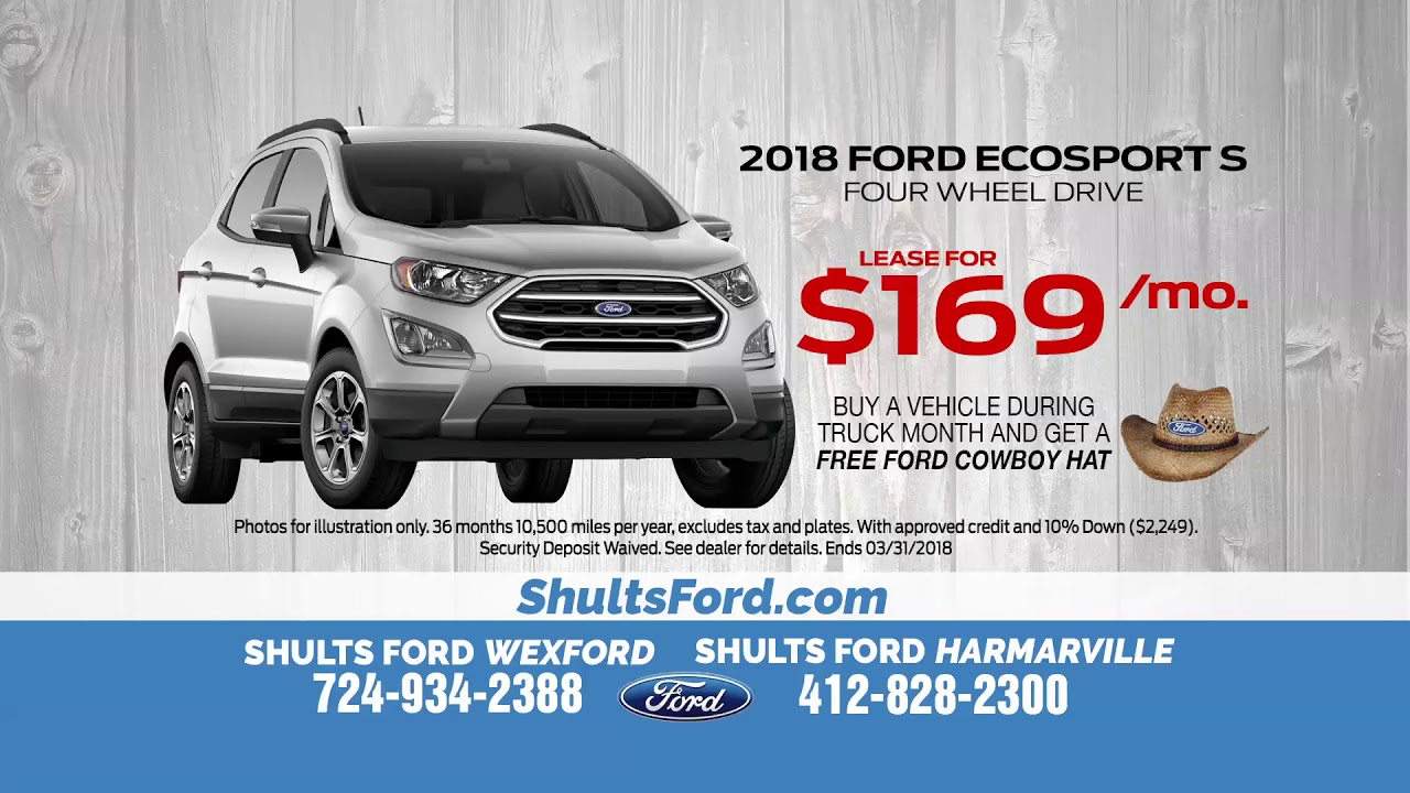 lease a 208 ford ecosport for just 169 a month youtube. Black Bedroom Furniture Sets. Home Design Ideas