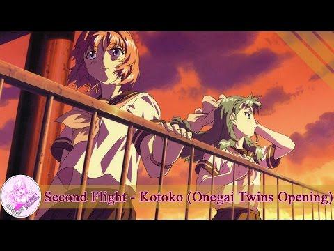 [Engsub + Kara] Second Flight - Kotoko [Onegai Twins Opening]