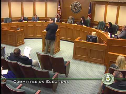 Texas House Committee on Elections Meeting - March 2, 2015