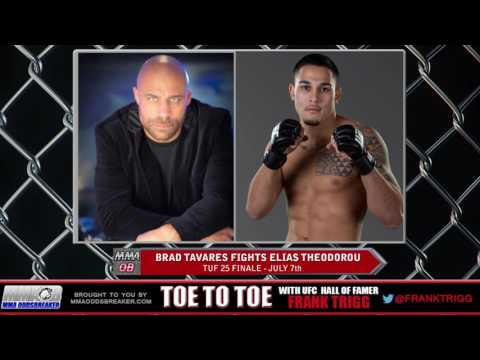 Frank Trigg pre-fight interview with TUF 25 Finale's Brad Tavares