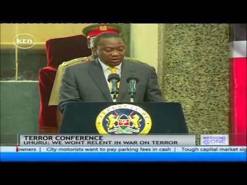 President Uhuru Kenyatta say Kenya will not relent in its war on terrorism