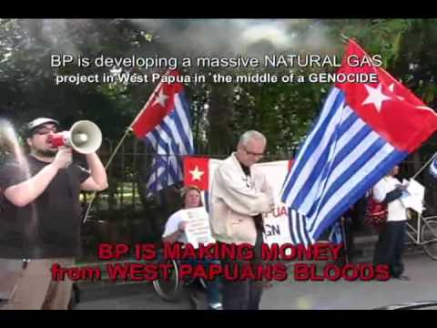 British Petroleum (BP) is Operating in West Papua in the Middle of Genocide UK 2011 Part 1