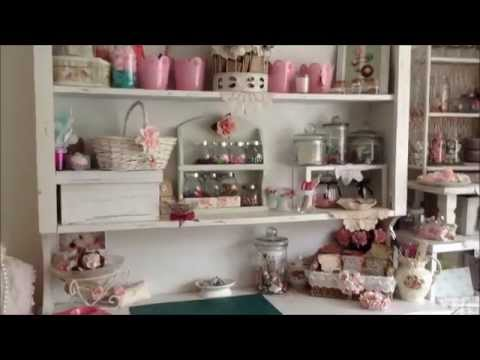 My shabby chic craft bead room youtube for Shabby chic craft room
