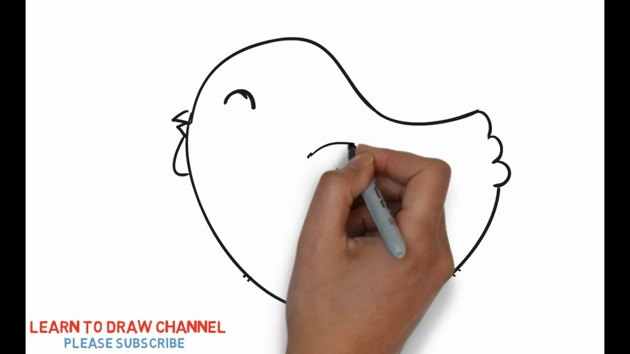 Easy Step For Kids How To Draw A Chick Youtube