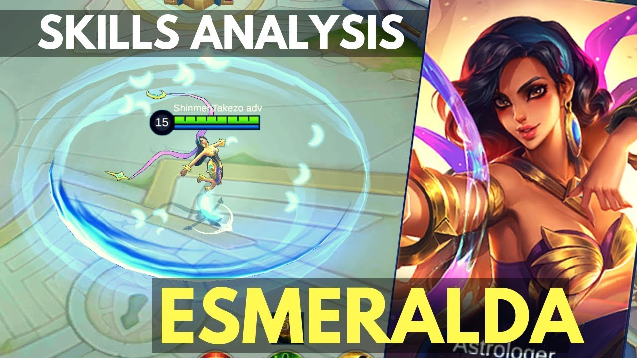 ESMERALDA : NEW MAGE TANK HERO SKILL AND ABILITY ANALYSIS | Mobile Legends