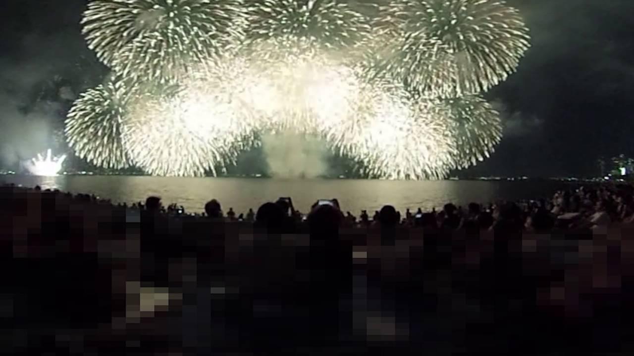 「琵琶湖大花火大会2016」の大迫力ラストシーン