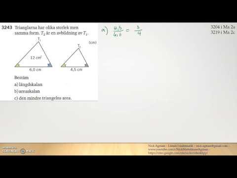 Matematik 5000 Ma 2bKapitel 3 - Geometri - LikformighetAreaoch volymskala3243
