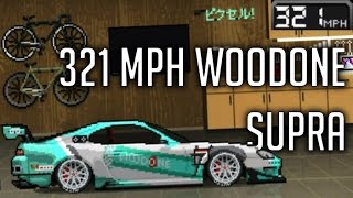 pixel car racer   321 mph woodone toyota supra build   custom wrap