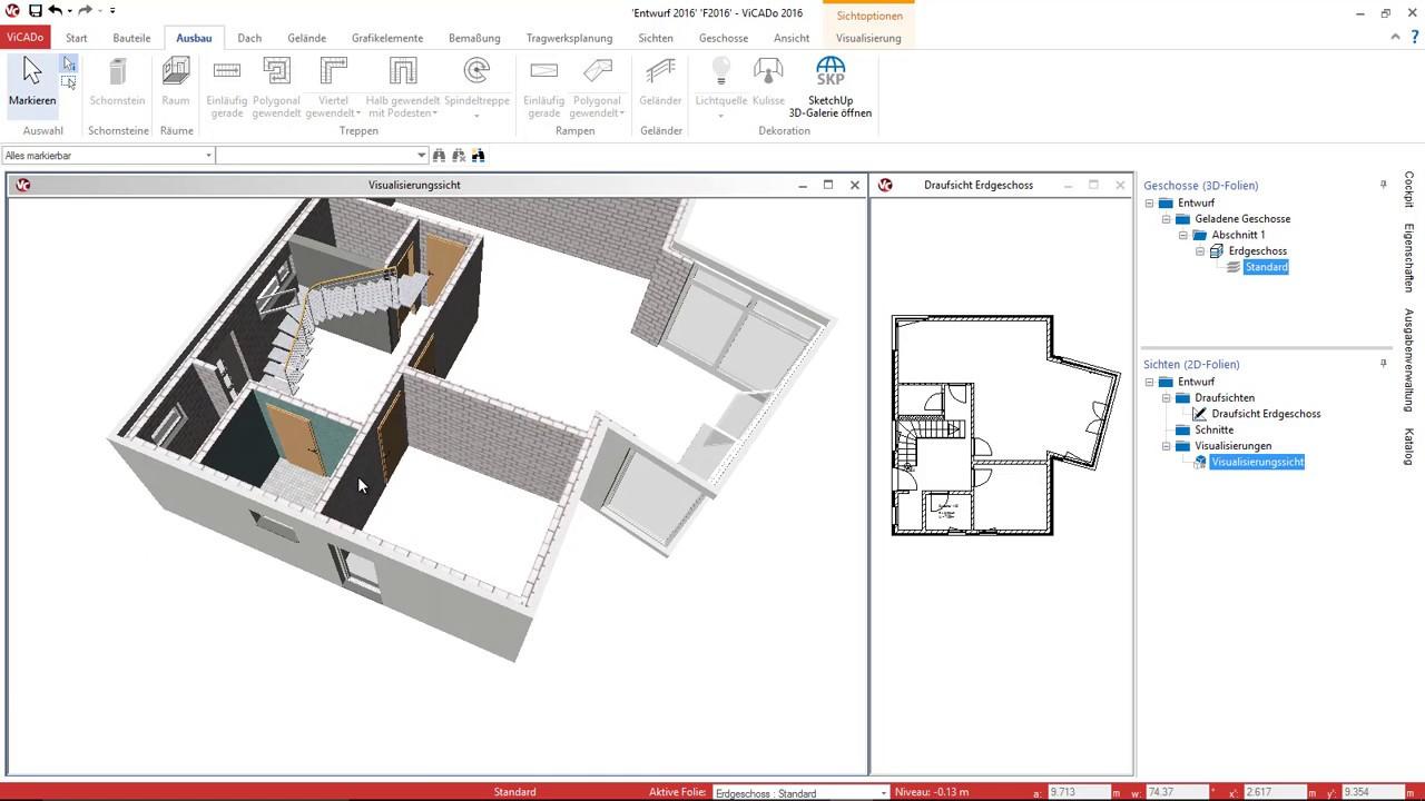 Bevorzugt Teil 4: Modellierung der Türen und Treppen - YouTube TN47