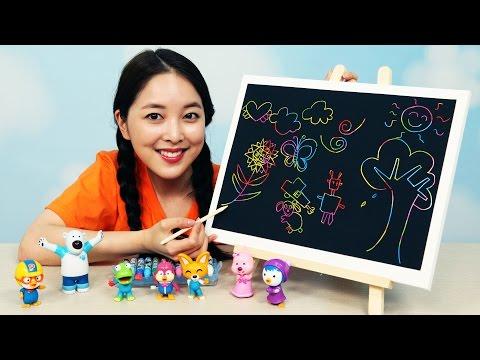 [유라] 장난감(toy)_까만 크레파스 그림 그리기