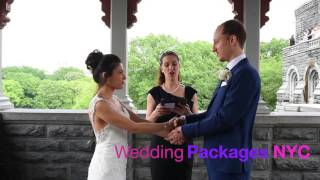 Central Park Wedding. Elopement at Belvedere Castle