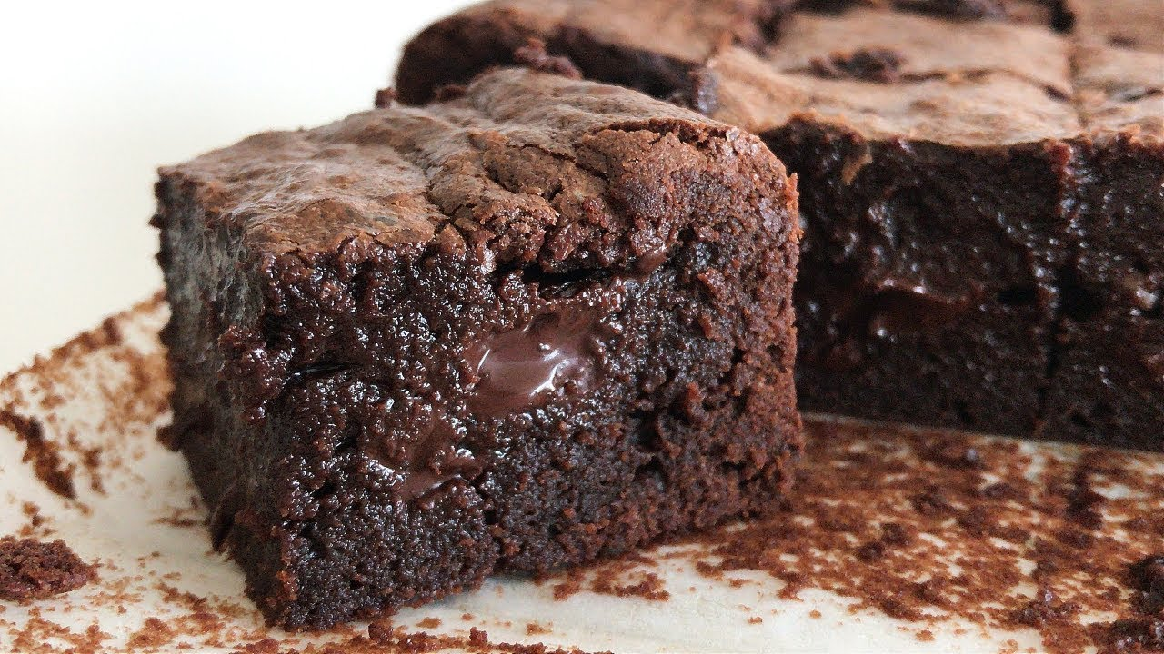 The Best Moist Fudgy Brownies Resepi Brownies Kedut