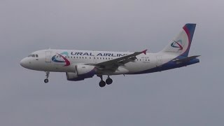 [FullHD] Ural Airlines A319-100 VP-BTF windy landing @Munich Airport
