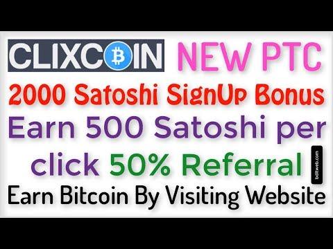 Earn Bitcoins By Clicking Ads 500 Satoshi Per Click - ClixCoin Bitcoin PTC