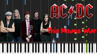 AC/DC - This Means War Synthesia Tutorial