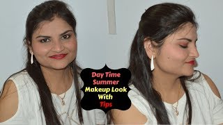 Simple Day Time Summer Makeup Look With Tips In Hindi | SWEAT PROOF Makeup | Real Homemaking