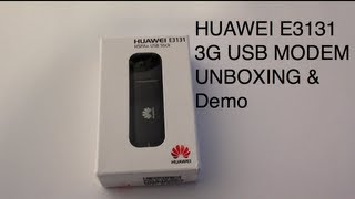 HUAWEI E3131 3G USB STICK MODEM 21.6 Mbps - Unboxing, setup and demo(HUAWEI E3131 3G USB STICK MODEM 21.6 Mbps Unboxing, setup and demo read my blog entry - http://goo.gl/CqD2G Edited with Final Cut Pro X and ..., 2013-02-01T17:56:12.000Z)