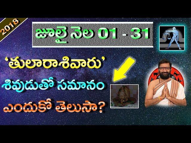 july month tula rashi phalithaalu | monthly predictions in telugu | Astro Syndicate