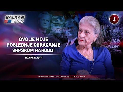 INTERVJU: Biljana Plavšić - Ovo je moje poslednje obraćanje srpskom narodu! (30.07.2018)