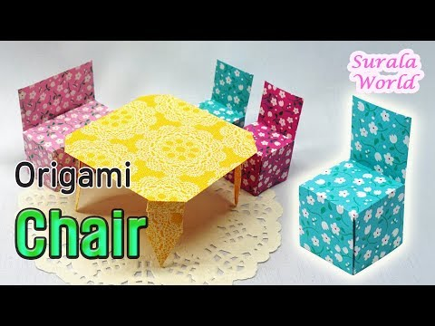 Origami - Chair : How to make a paper chair (DIY, Tutorial)
