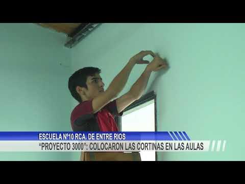 """""""Proyecto 3000"""": Comenzaron con la colocación de las cortinas en la Escuela Rca. de Entre Ríos"""