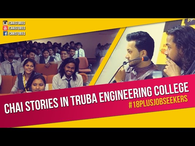 Chai Stories in Truba Engineering college | Jobwalaa.com | #18plusjobseekers