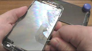 Расслоил  экран смартфона samsung galaxy -  сломал телефон, что будет если расслоить ЖК экран))