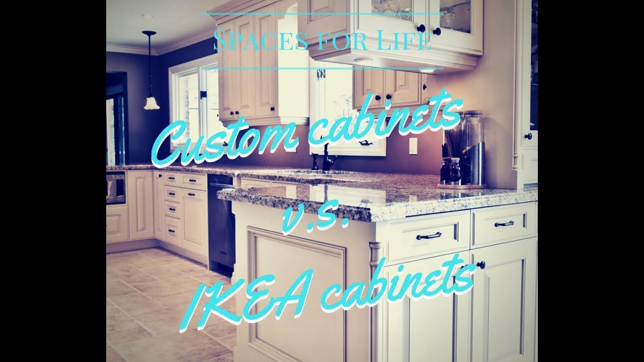 Custom Cabinets V S Ikea
