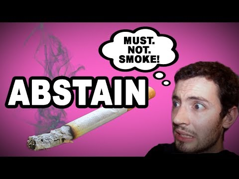 Learn English Words: ABSTAIN - Meaning, Build Your Vocabulary With Pictures And Examples