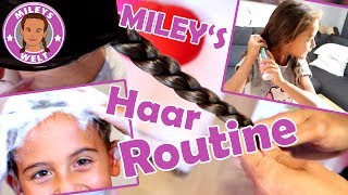 MILEYS HAAR ROUTINE - wie pflege ich meine Haare *Wunschvideo | MILEYS WELT