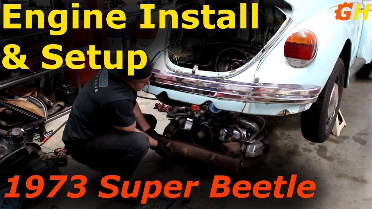 Engine Installation Setup 1973 Vw Beetle 5 Youtube