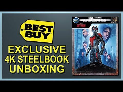 Ant-Man Best Buy Exclusive 4K+2D Blu-ray SteelBook Unboxing