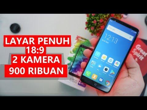 LAYAR PENUH, DUA KAMERA 900 RIBUAN - Unboxing Evercoss U60 Indonesia