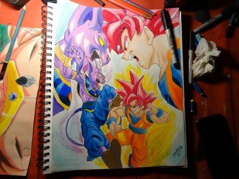 SpeedDrawing| Goku vs Bills/Dibujando a Goku vs Bills ...