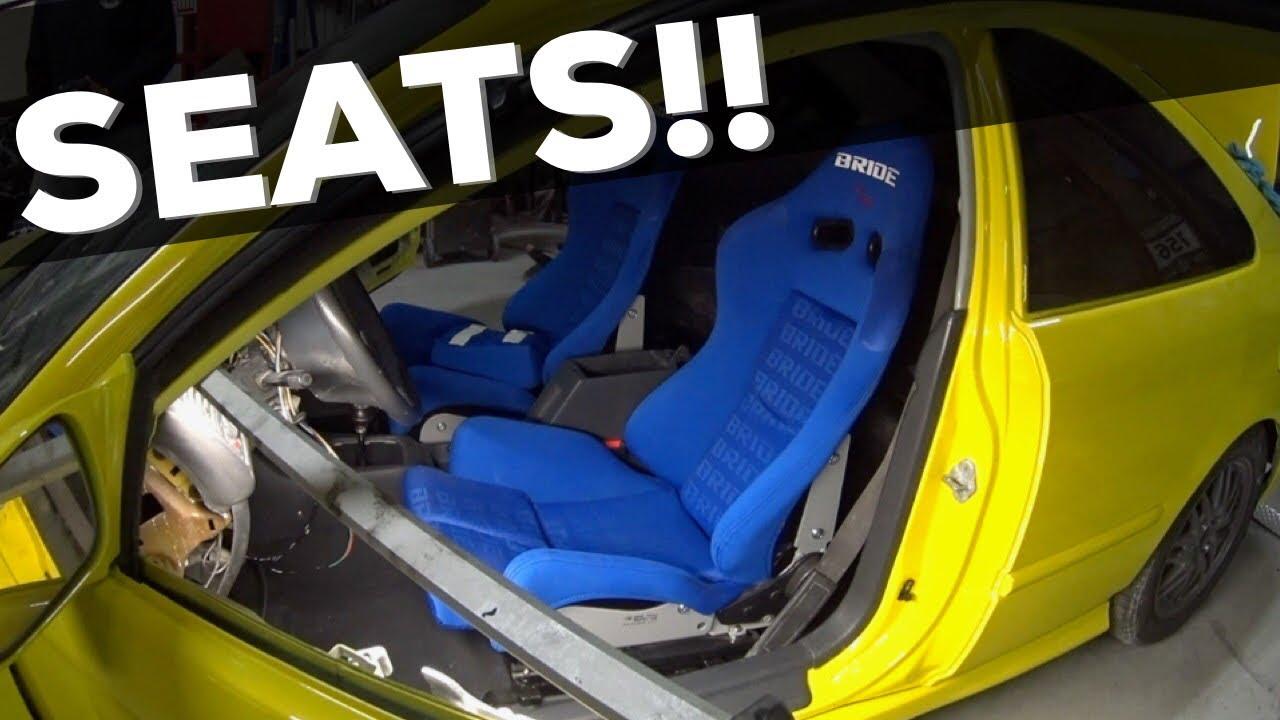 Pt 8 Turbo Honda Civic Build Bride Seats Interior Youtube