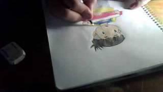 Me drawing Ponyo (Sosuke)