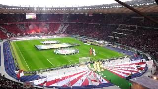 dfb pokalfinale fc bayern mnchen vfb stuttgart erffnungszeremonie deutsche nationalhymne