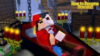 Minecraft Adventure - HOW TO BECOME DRACULA AT HALLOWEEN!!