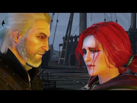 THE WITCHER 3 - Farewell With Triss: Reject Or Stay (all Options) [4K, 60fps]