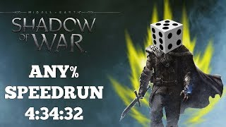 Middle-earth: Shadow of War | [PC] Any% Speedrun | World Record | 4:34:32