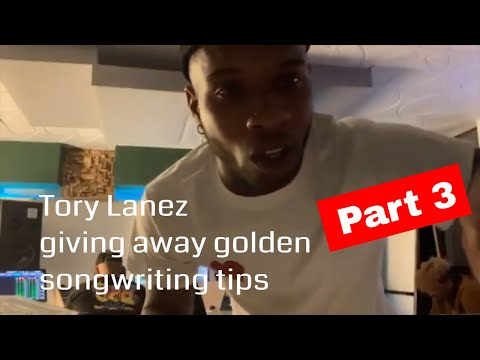 TORY LANEZ giving away golden songwriting tips! (Part 3 Motivational)
