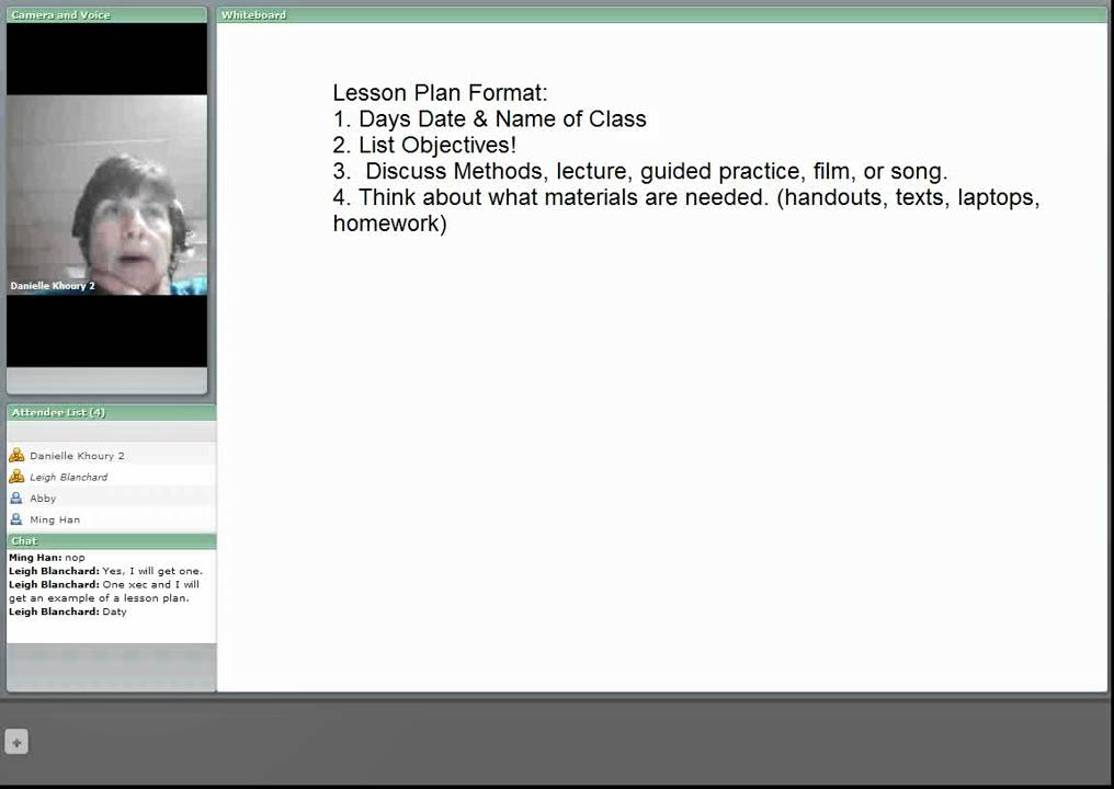 Lesson Planning Format Tesol Youtube