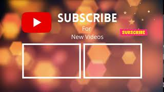 New Youtube Channel Outro Copyright Free Download - Youtube Endcreen Free Download