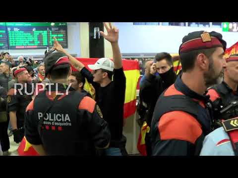 Spain: Supporters cheer Catalan Parliament Board members headed for Madrid's Supreme Court