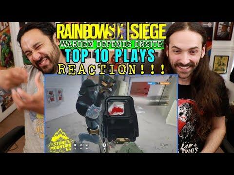 RAINBOW SIX SIEGE | Top 10 Plays | WARDEN DEFENDS ONSITE - REACTION!!!