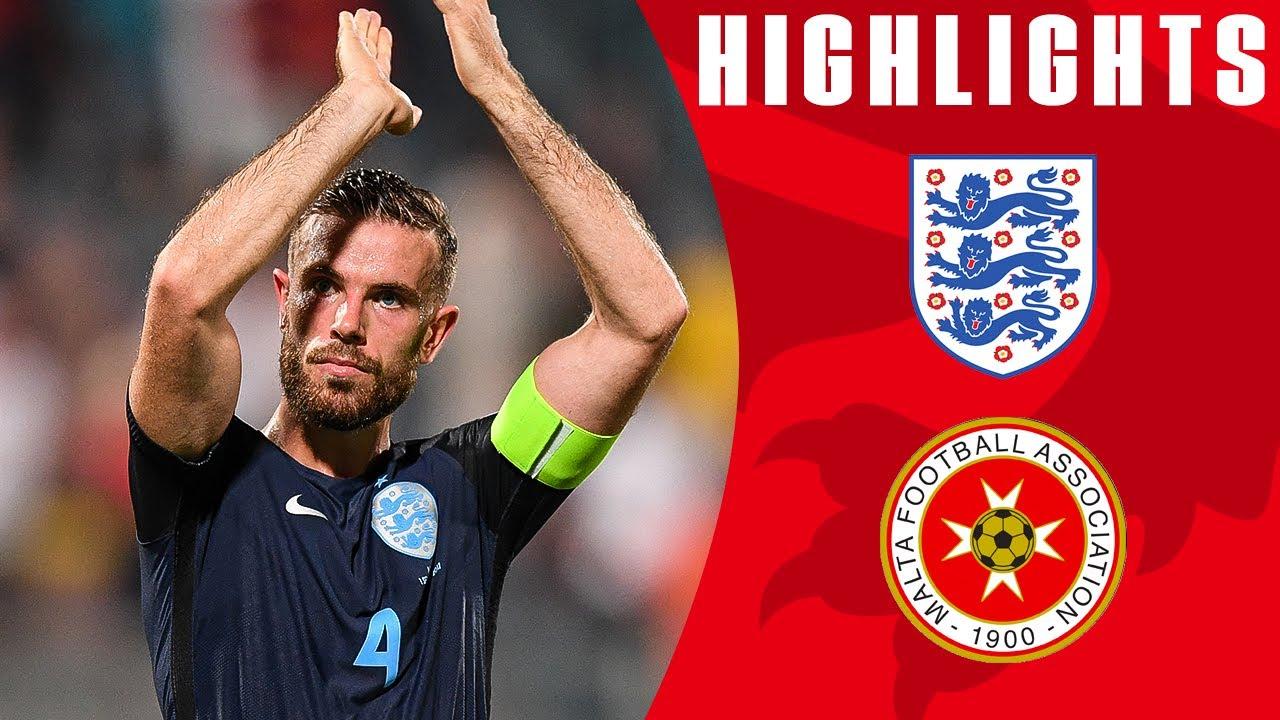 England Score 3 Late Goals to See Off Malta!   Malta 0-4 ...