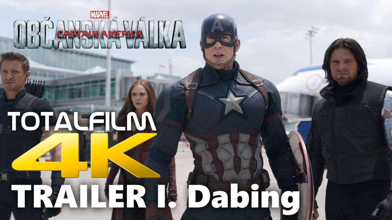 Captain America: Občanská válka (2016) 4K trailer dabing I.