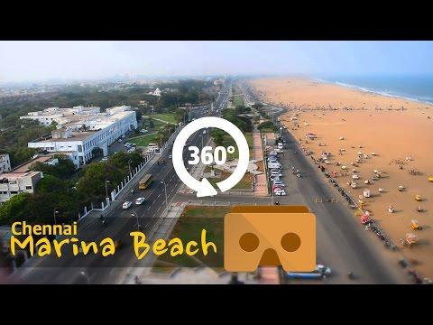Marina beach, Chennai in 360 degrees #YT360Day|Vikatan 360º