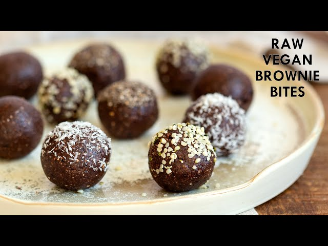 RAW VEGAN BROWNIE BITES -  5 Ingr Energy Bites, Grainfree | Vegan Richa Recipes