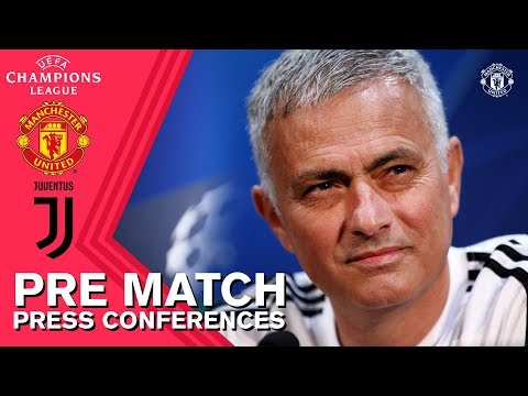 Mourinho & Lukaku Press Conference | Manchester United v Juventus | UEFA Champions League